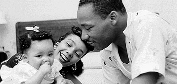 dr. king with family